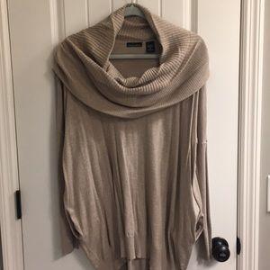 Cowl neck boyfriend tunic/sweater